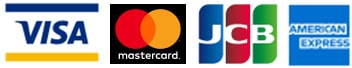 VISA, MasterCard, JCB, AmericanExpress